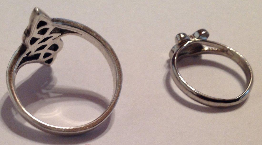 Estate vintage oof of 2 Sterling ring (S) - 2