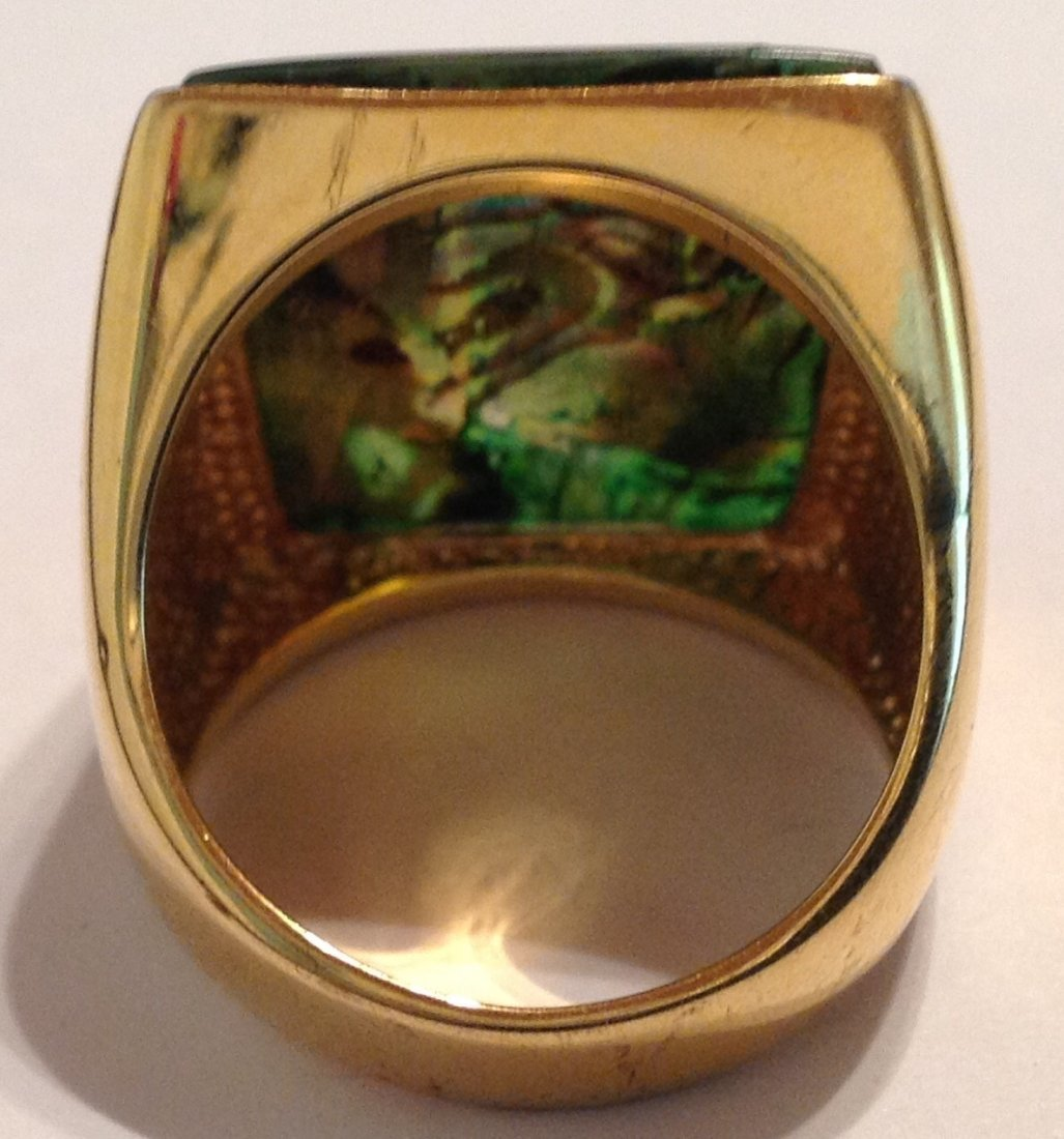 Estate vintage SETA gold plated designer ring (S) - 3