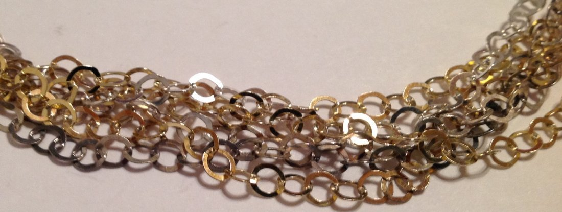 """Estate sterling Italy multi strand 15"""" necklace  (S) - 2"""