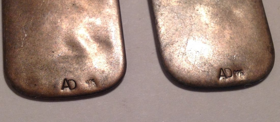 Estate native overlay hopi sterling dangle earrings (S) - 3
