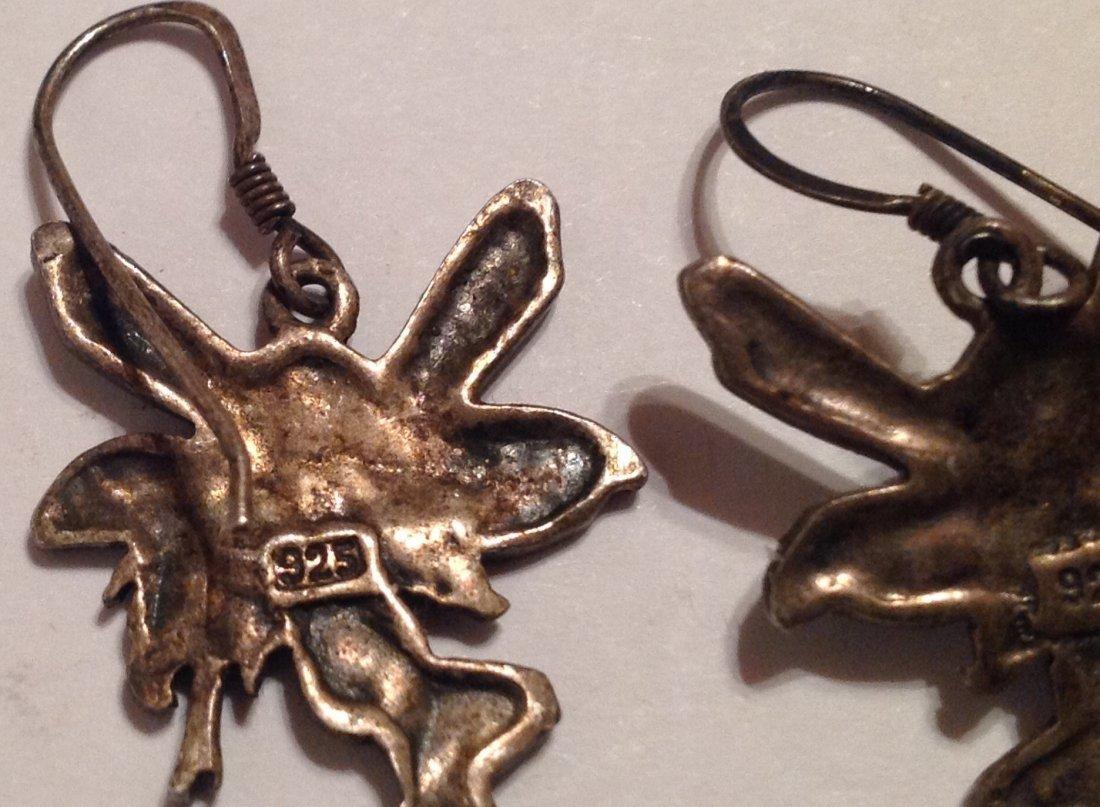 Estate vintage art nouveau fairy dangle earrings (S) - 4