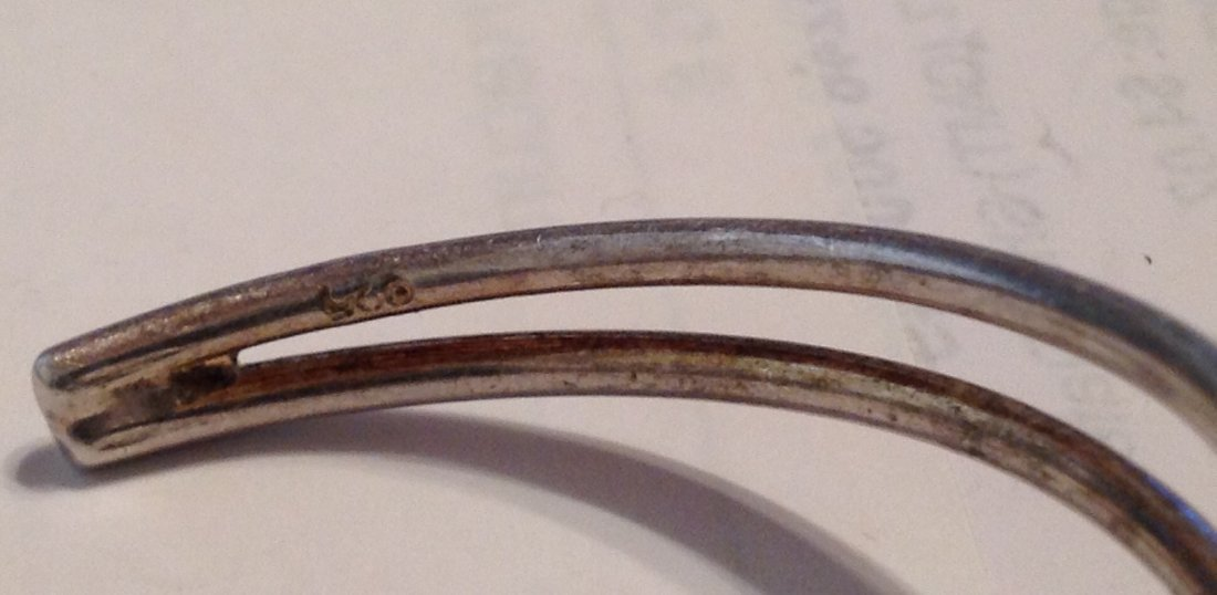Estate Sterling Silver modernist cuff bracelet   (S) - 3