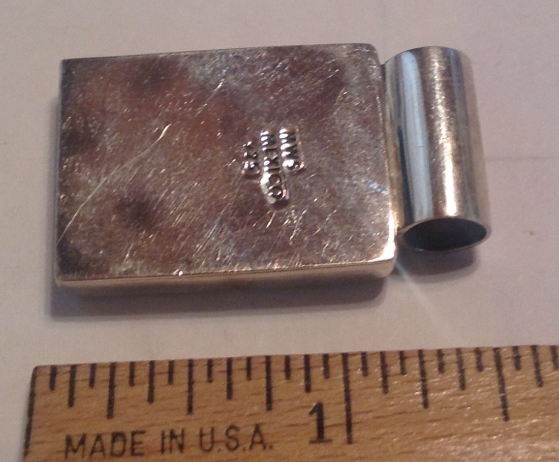 Estate MWS solid Sterling modernist slider pendant (S) - 2