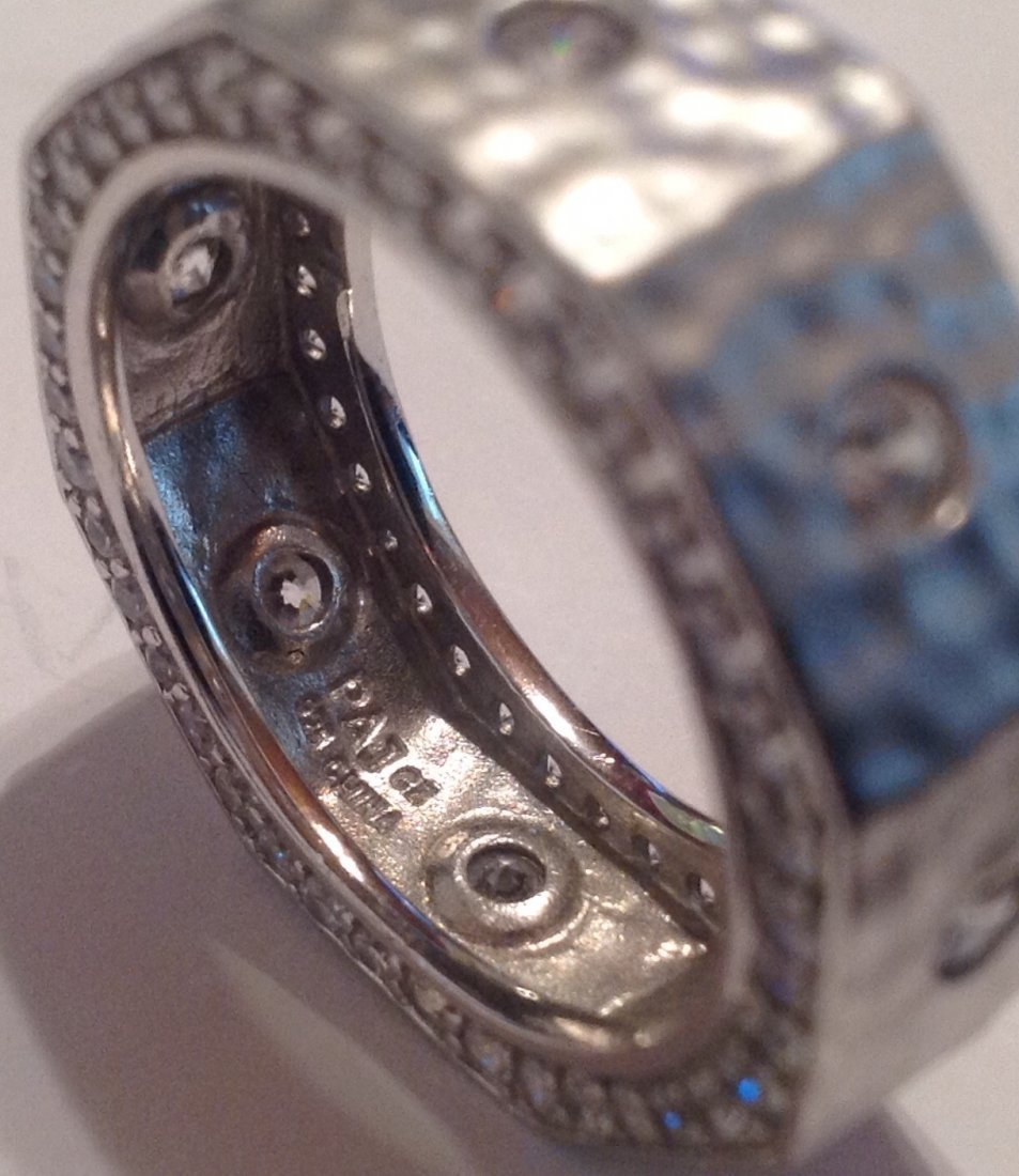 Estate VTG. Sterling CZ ladies ring (S) - 3