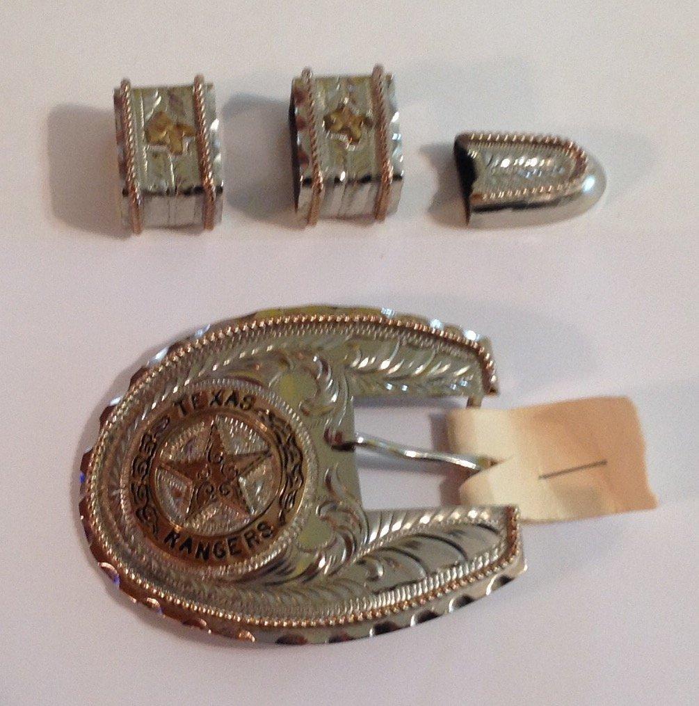 Vintage estate Texas ranger belt buckle (S)