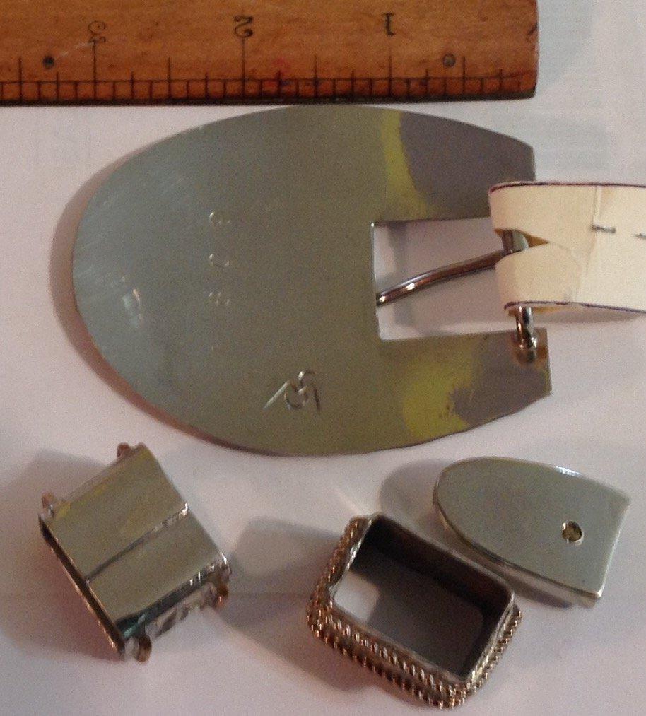 Vintage estate Texas ranger belt buckle (S) - 2