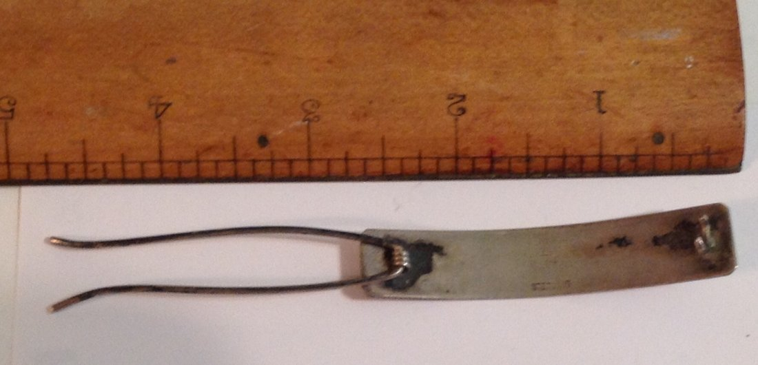 estate antique Sterling silver Hair clip Barrett   (S) - 2