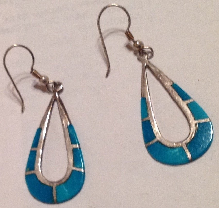 estate Native Sterling Turquoise earrings (S)