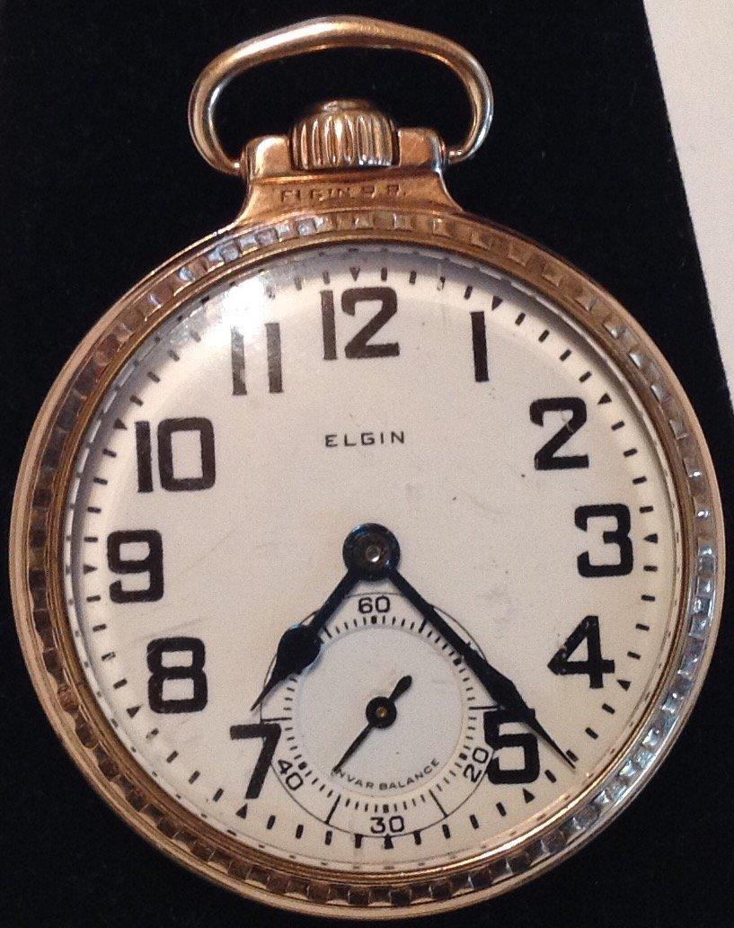Estate Antique Elgin BW Raymond 16s pocket watch  (S)