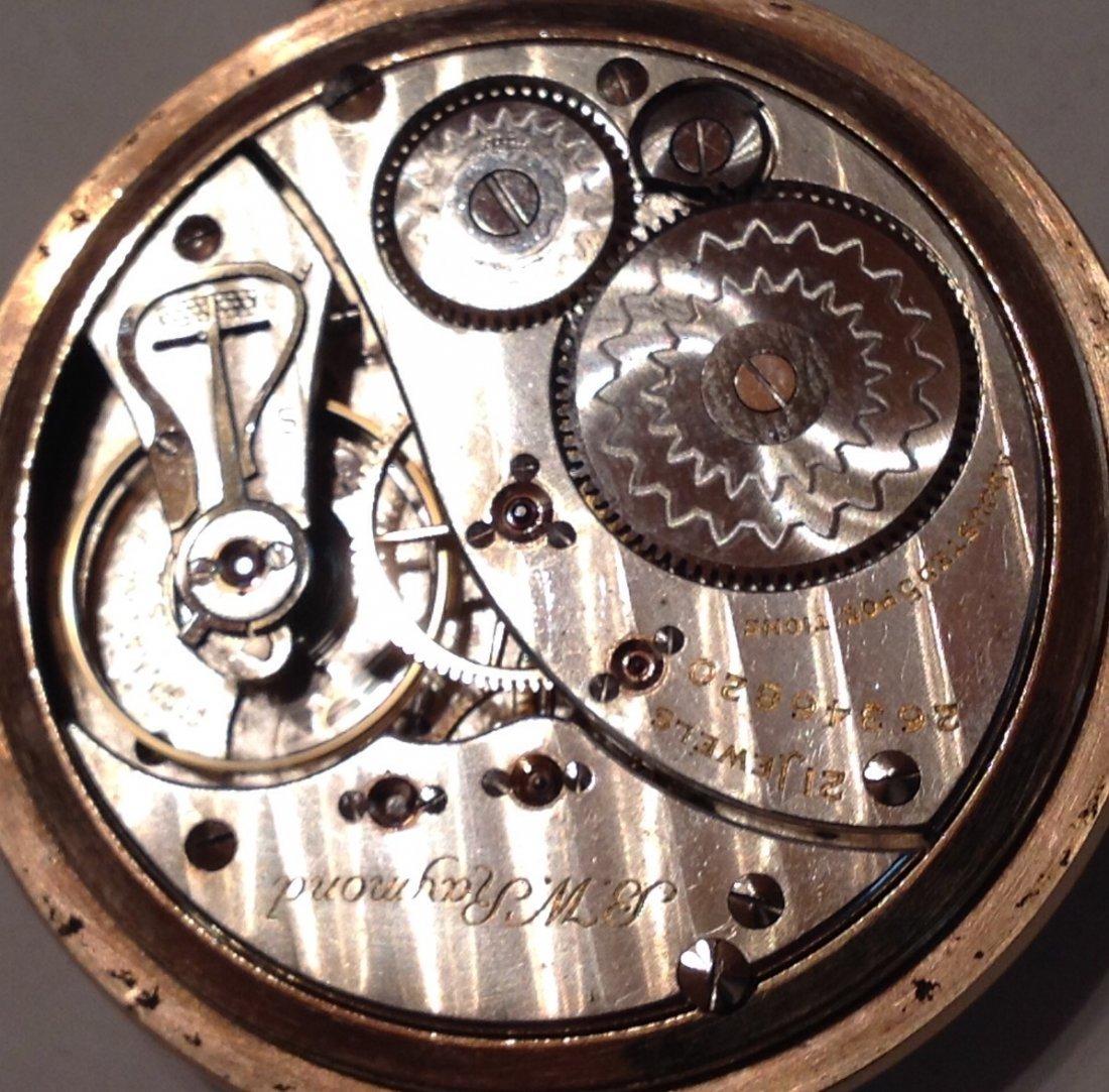 Estate Antique Elgin BW Raymond 16s pocket watch  (S) - 6