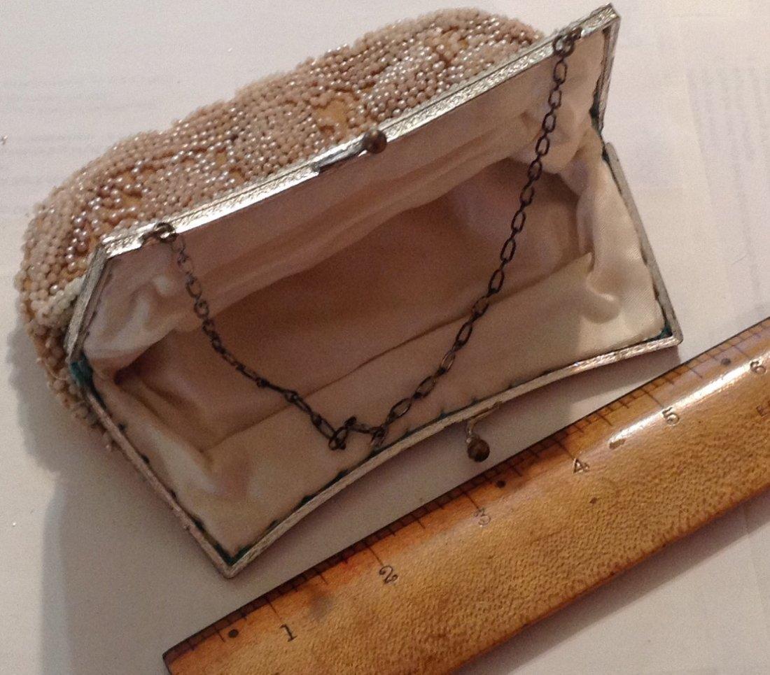 Estate antique beaded ladies evening purse ( T ) - 2