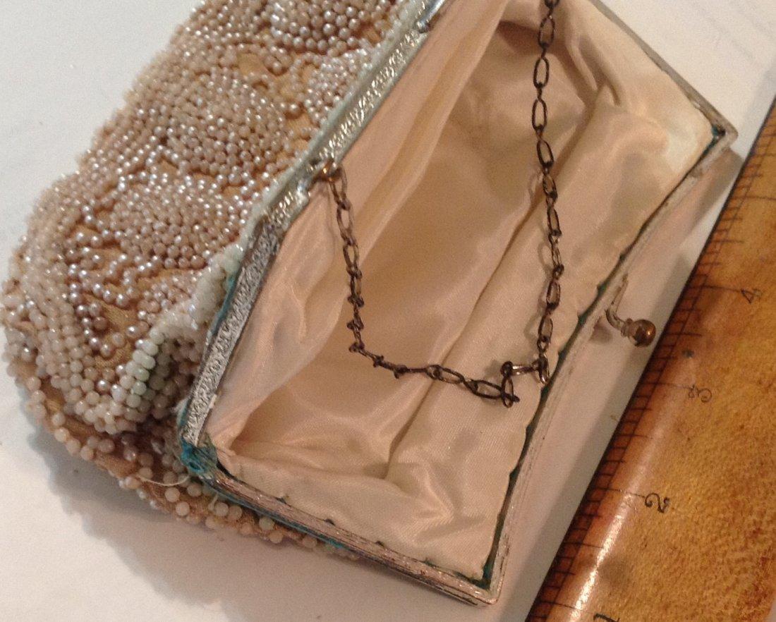 Estate antique beaded ladies evening purse ( T ) - 3