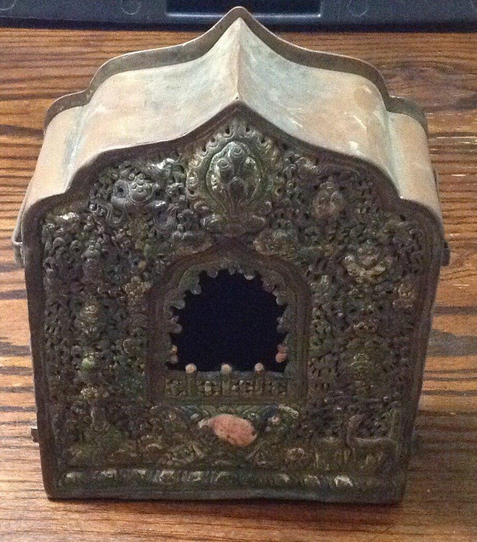 Antique ornate oriental bird house