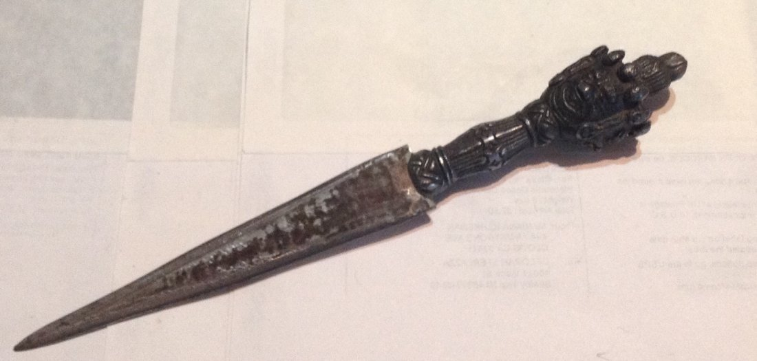 Antique Tibetan Buddhist ritual tantric 3 dagger ( S )
