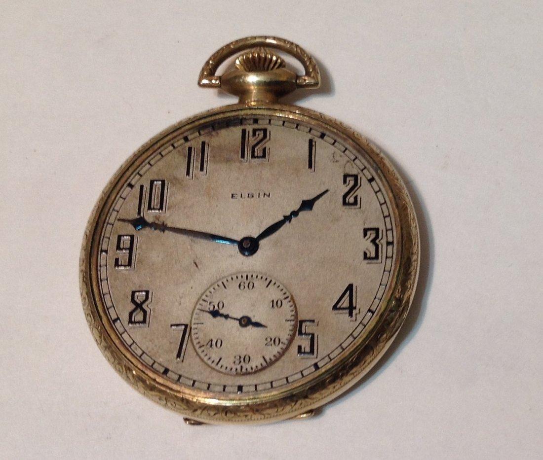 Antique Elgin gold filled pocket watch. For parts.