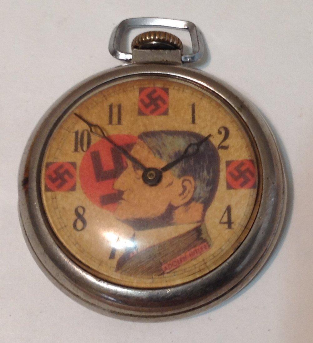 Vintage WW2 era Nazi propaganda pocket watch. For parts
