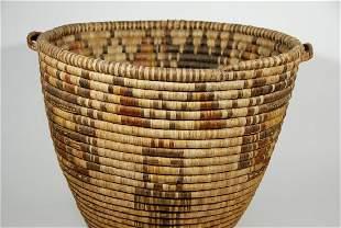 Large 1930 Hopi Kachina Figured Polychrome Basket