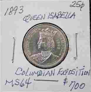1893 Queen Isabella Columbian Exposition