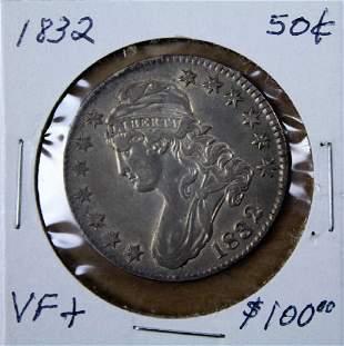 1832 U S Liberty 50 cent piece