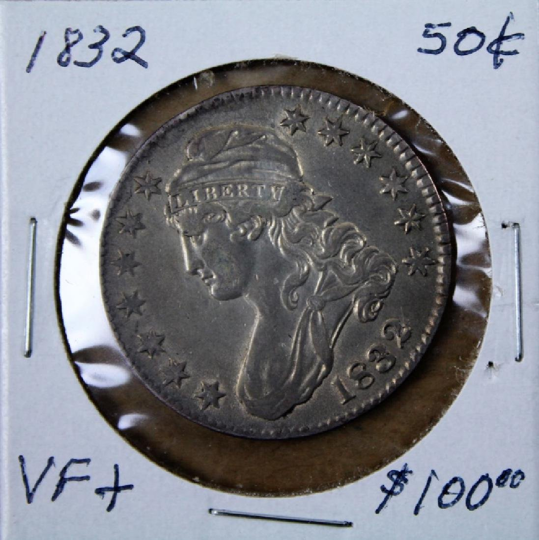 1832 U S Liberty  50 cent piece