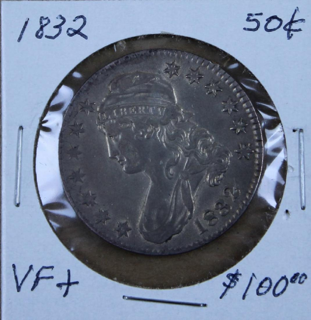 1832 U S Liberty  50 cent piece - 2