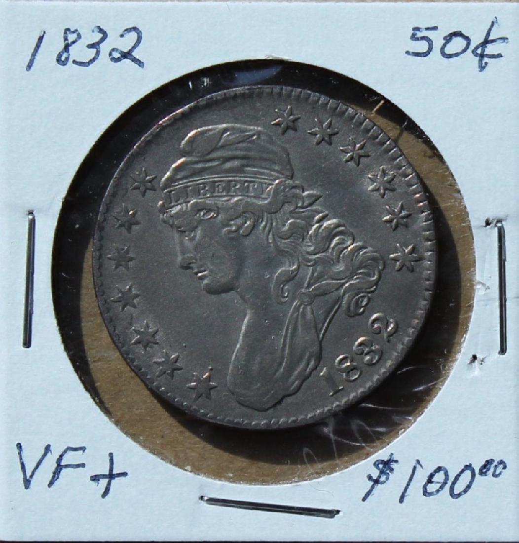 1832 U S Liberty  50 cent piece - 3