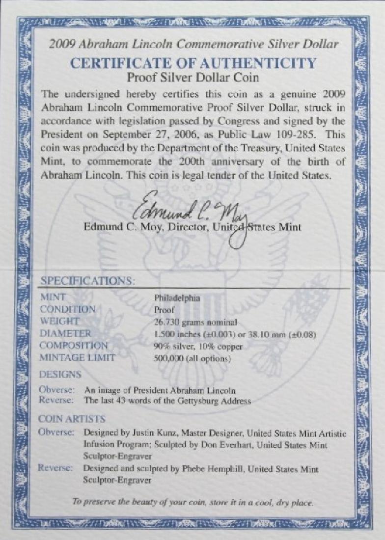 Abraham Lincoln Commemorative Silver Dollar - 6