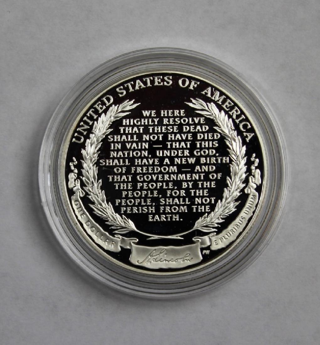 Abraham Lincoln Commemorative Silver Dollar - 2
