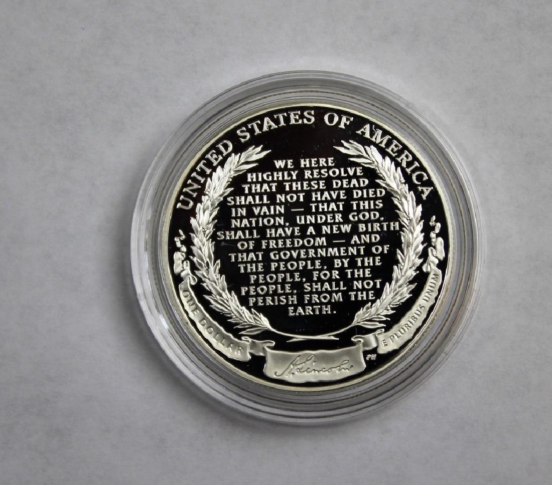 Abraham Lincoln Commemorative Silver Dollar - 3