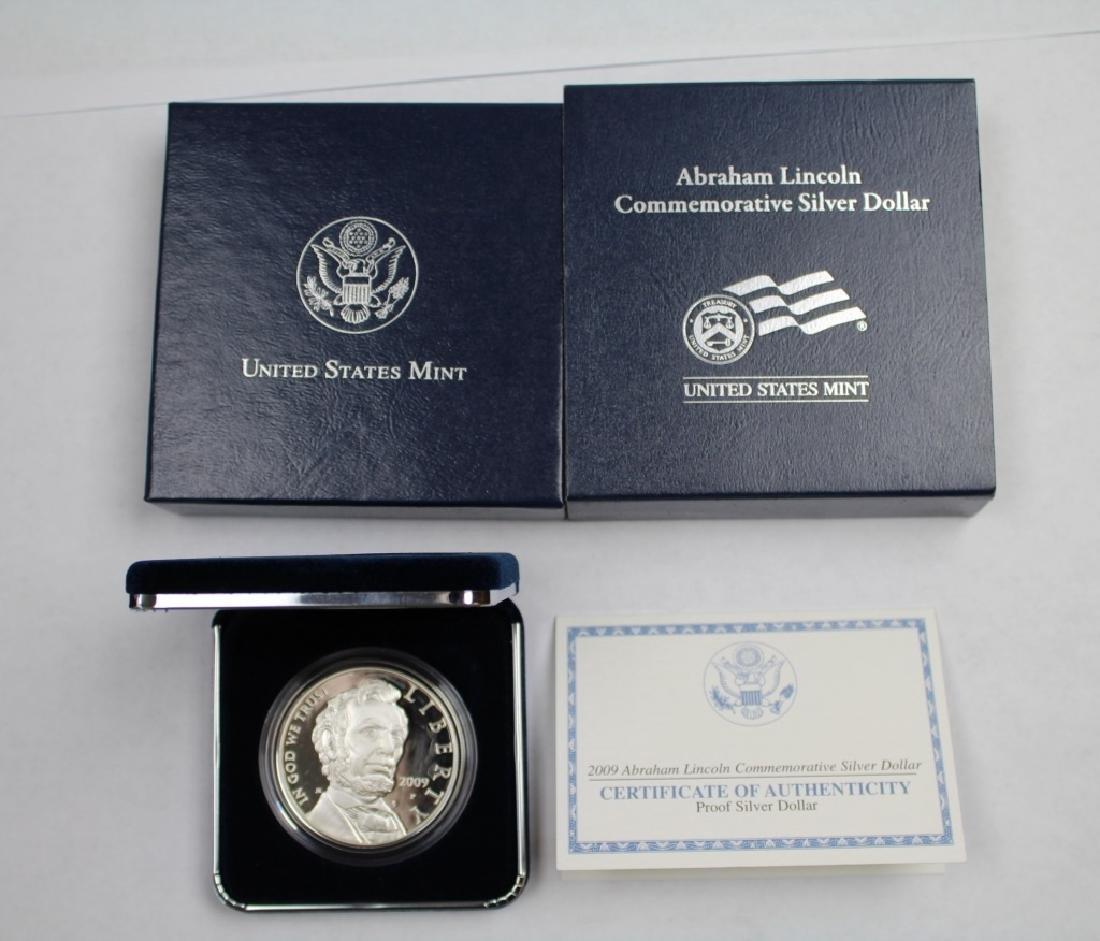 Abraham Lincoln Commemorative Silver Dollar - 5