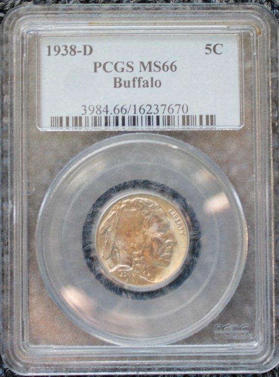 1938D Buffalo Nickel   (PCGS MS)