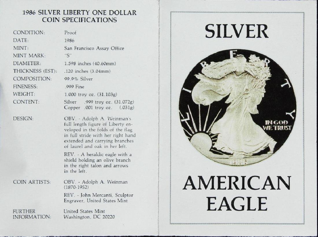 1986  Silver American Eagle Proof - 2