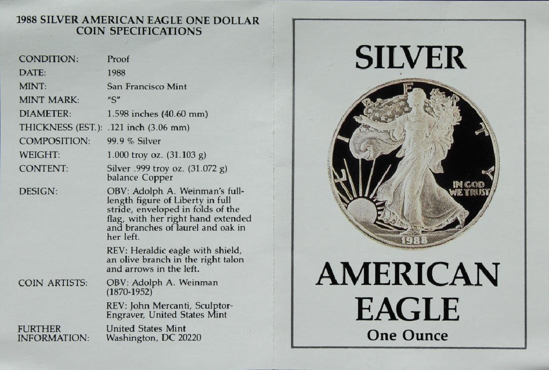 1988 Silver American Eagle Proof - 2