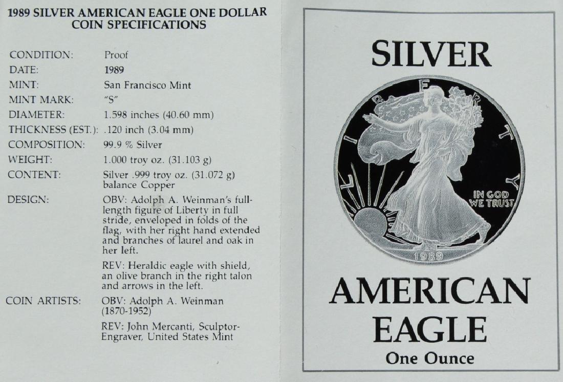 1989 Silver American Eagle Proof - 3