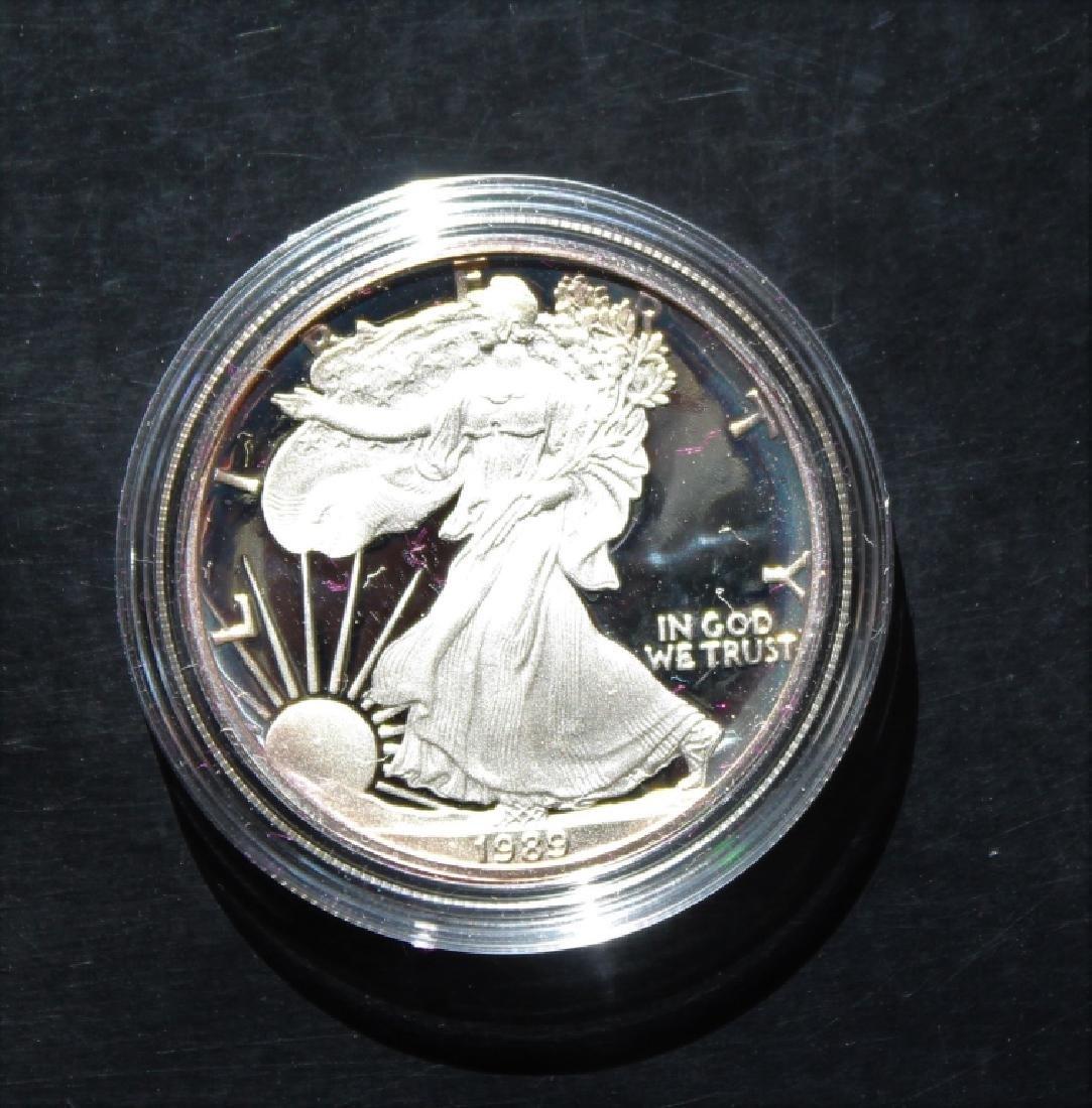 1989 Silver American Eagle Proof - 7