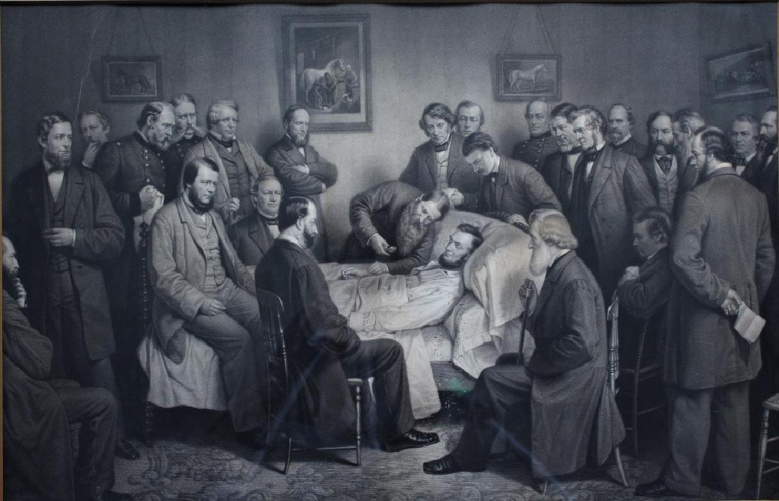 Abraham Lincoln on his death bed