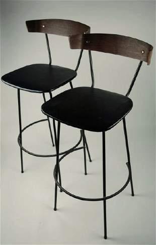 Pair on Mid-Century Bar Stool Chairs