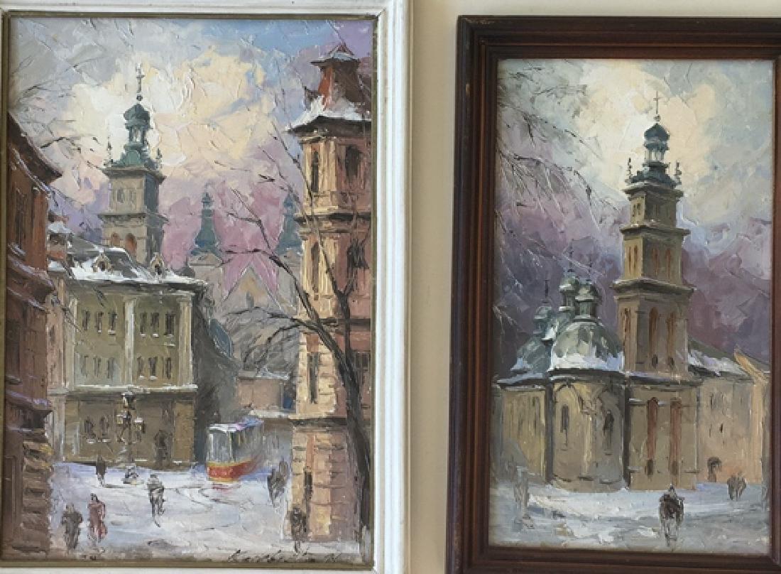Pair of Russian paintings