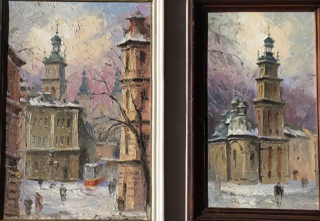 Pair of Russian paintings - 5