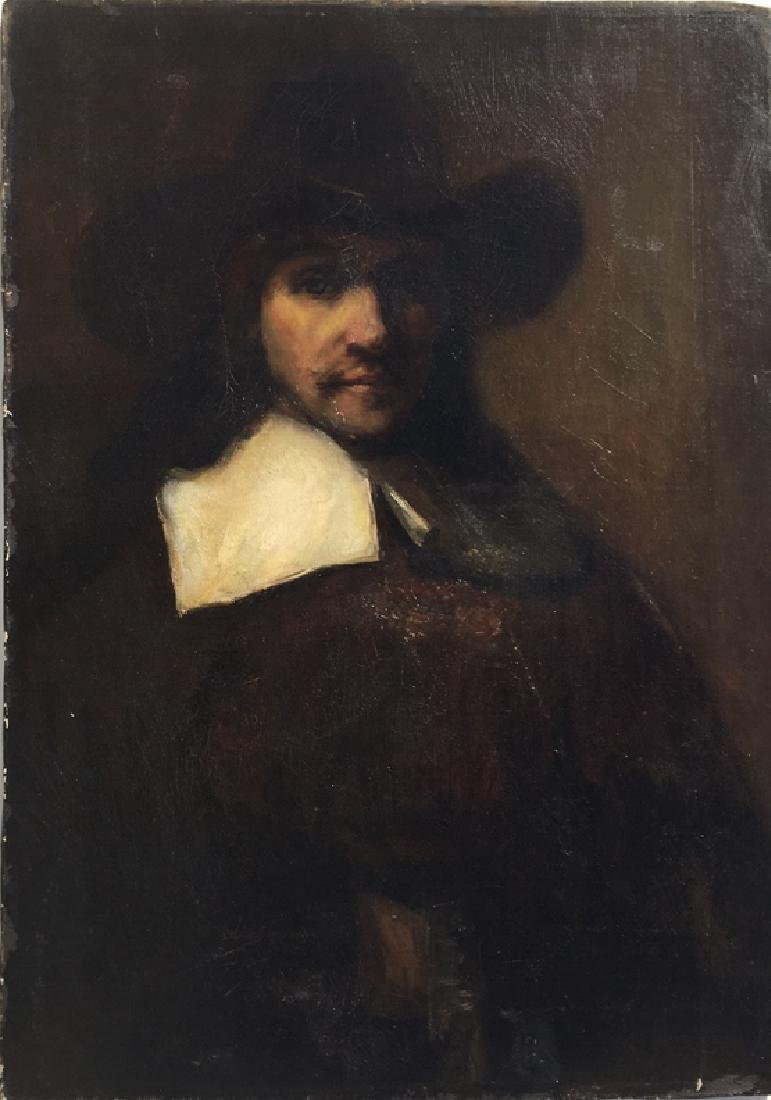 """Portrait of a Man""/copy of Rembrandt done 1904"