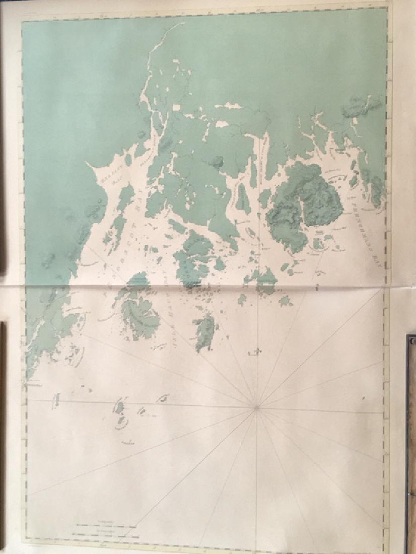 Map of Maine coastline