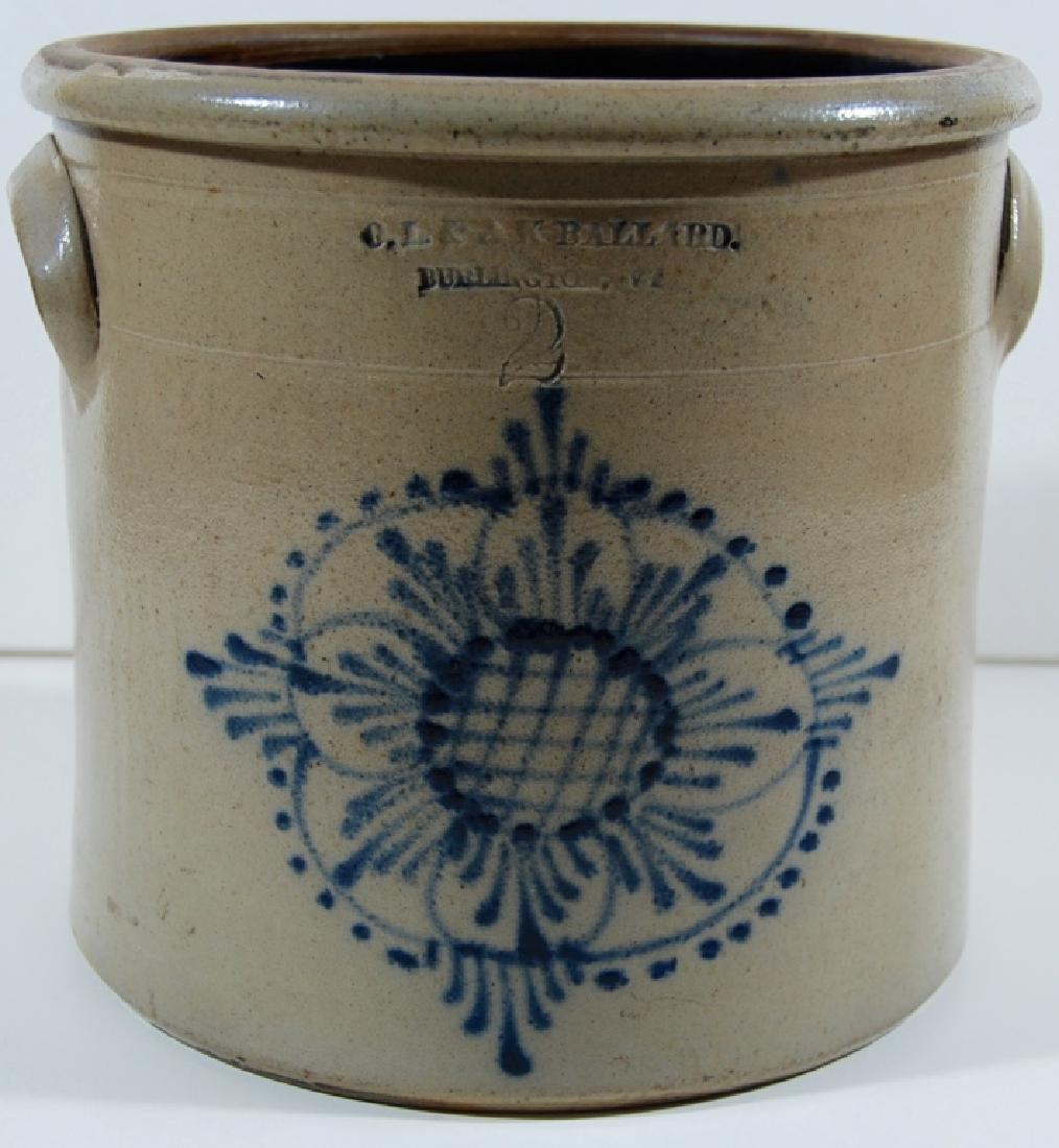 O.L. & A.K. Ballard, 2 gallon, Stoneware.