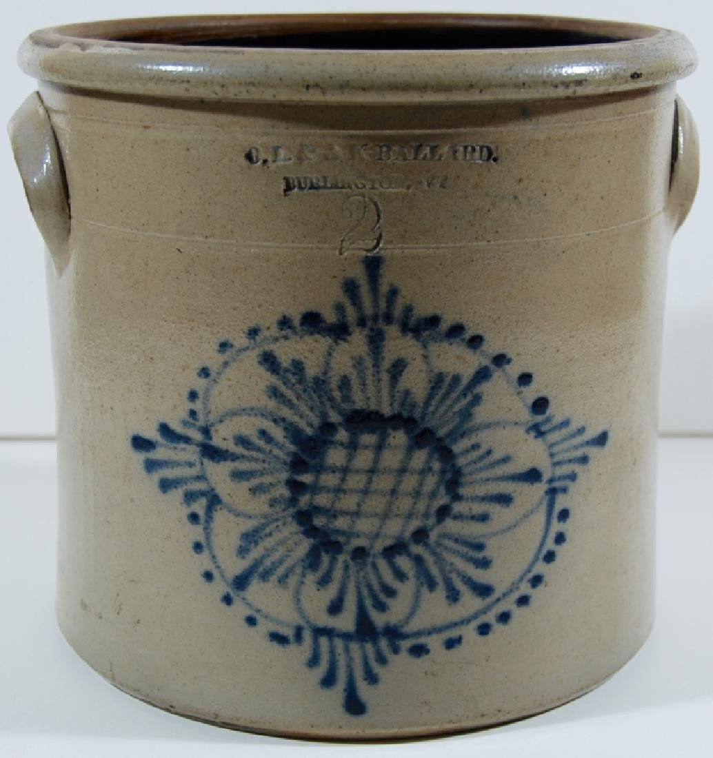 O.L. & A.K. Ballard, 2 gallon, Stoneware. - 2