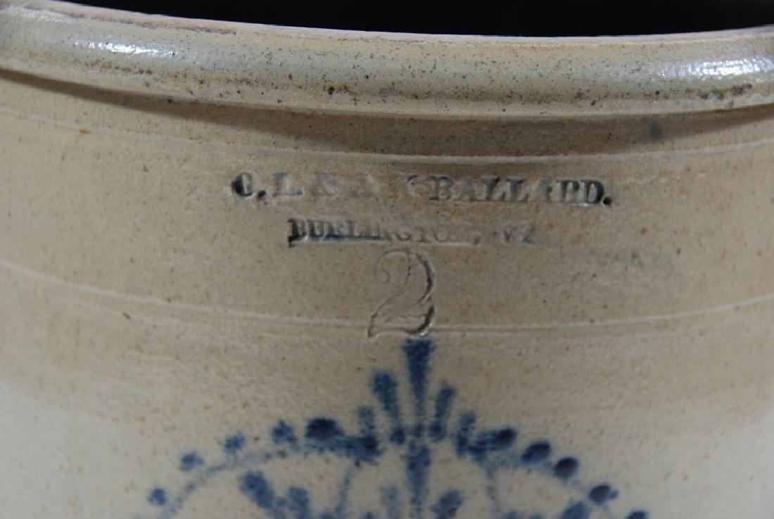 O.L. & A.K. Ballard, 2 gallon, Stoneware. - 3