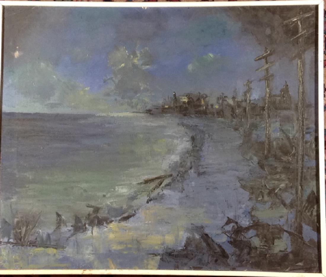 Moonlight and shoreline - 4