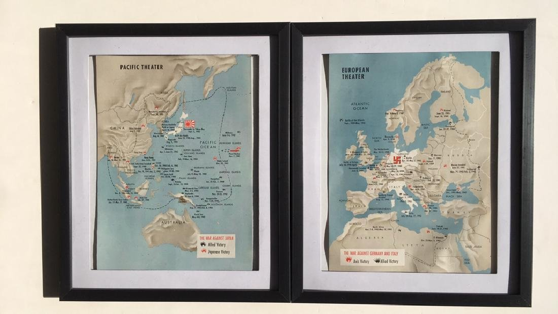 2 World War II maps