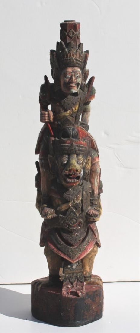 Asian Wooden Statue