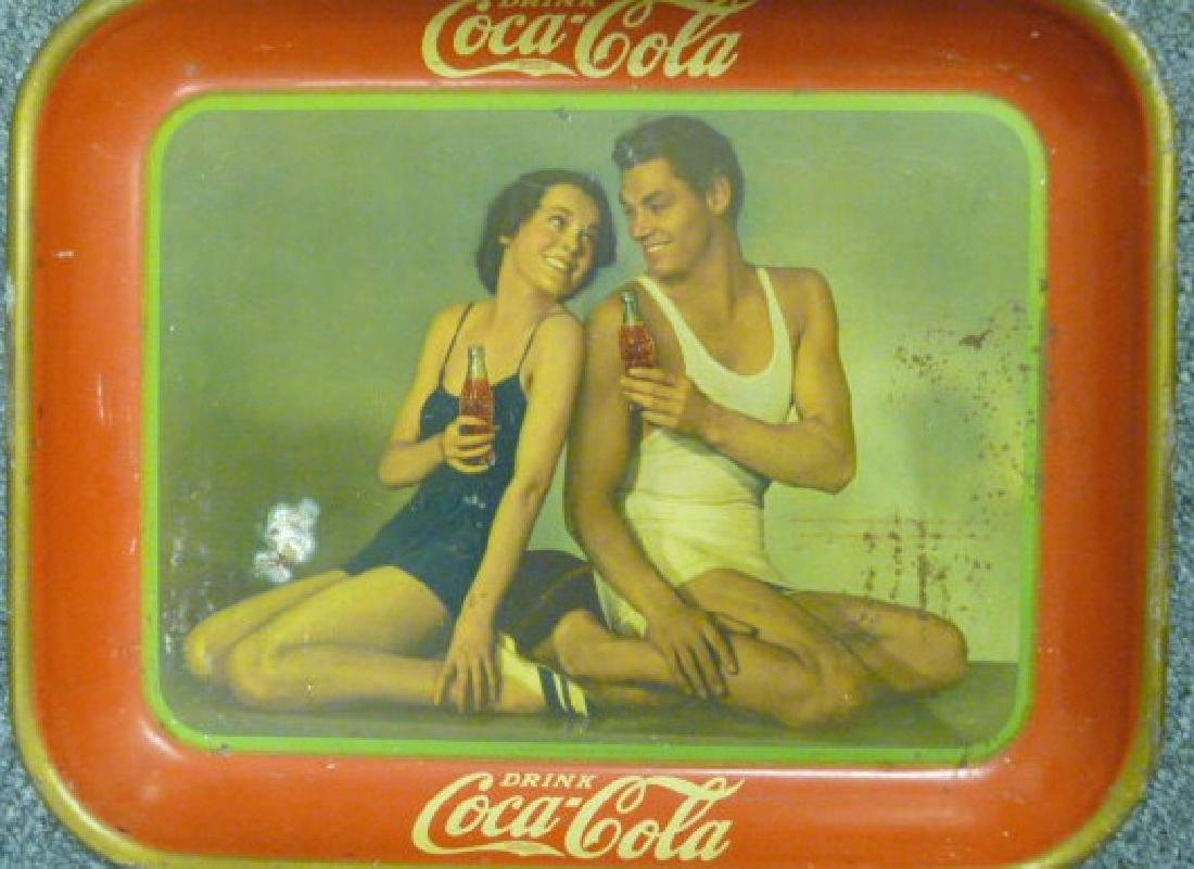 Set of  3 Coke trays