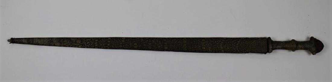 Snake skin sword and holder