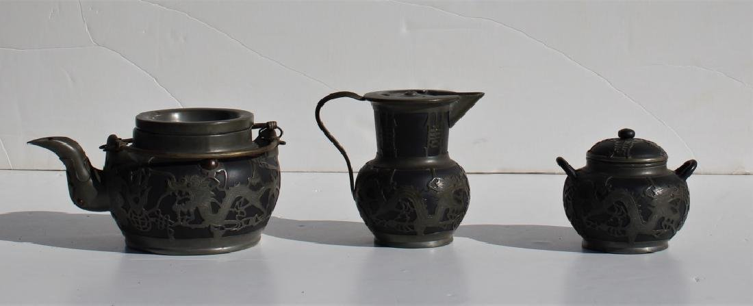 3 Piece Pewter tea set